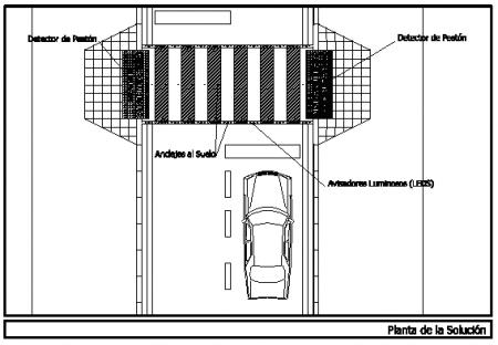 Paso de peatones elevado automático